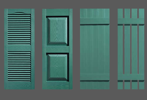 Heritage Green Shutters