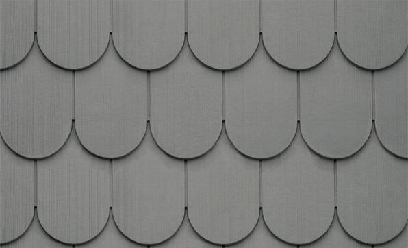 Charcoal Gray Scallops