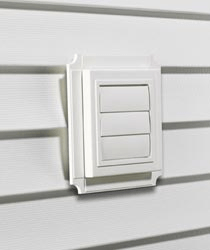 Louvered Exhaust Vent Mounting Block