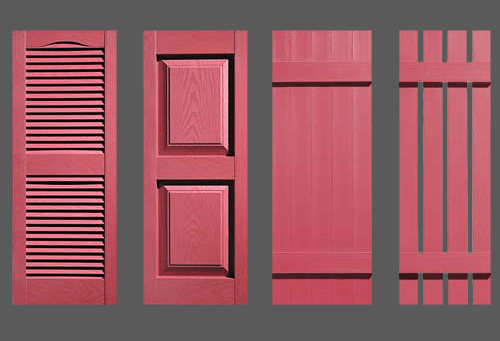 Cranberry Red Shutters